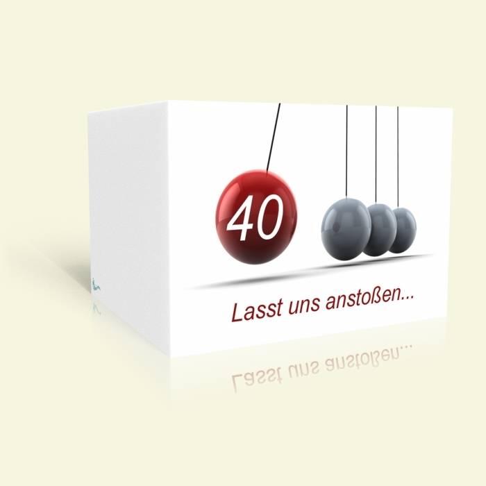 Einladung zum 40. Geburtstag - Klickerspiel