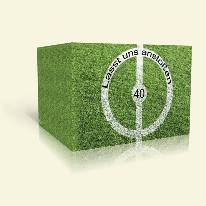 Einladung zum 40. Geburtstag - Anstoß-Fußball