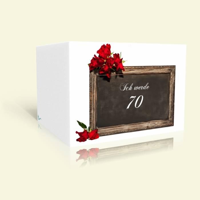 Einladungskarte 70. Geburtstag - Tafel