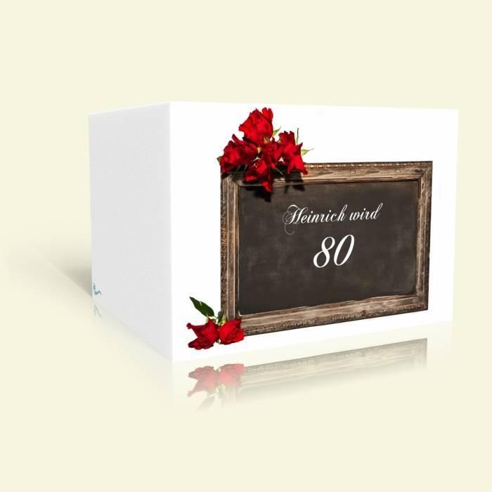 Einladungskarte 80. Geburtstag - Tafel
