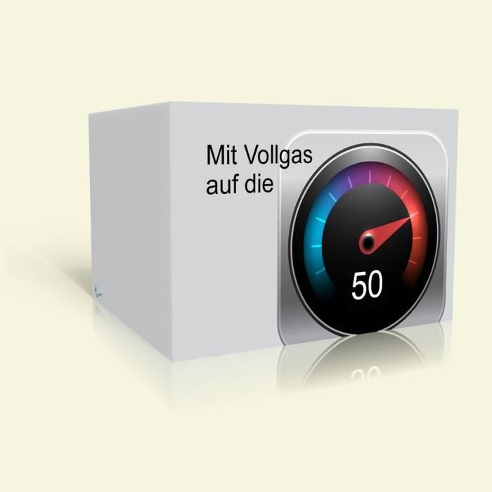 Einladungskarte 50. Geburtstag - Vollgas