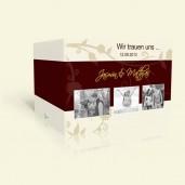Hochzeitseinladung Ranke in Braun