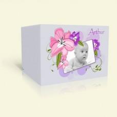 Geburtskarte Zarte Pastellblüten