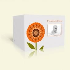 Danksagungskarte zur Taufe Sonnenblume