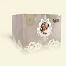 Danksagungskarte Goldene Hochzeit - Rosenspitze