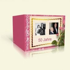 Goldene Hochzeit Einladung - Wie die Zeit vergeht - Rosen