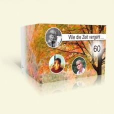 Einladungskarte Geburtstag - Wie die Zeit vergeht - Herbst