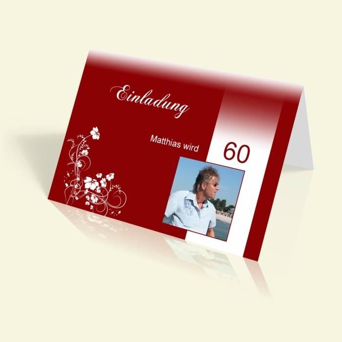 Einladungskarten geburtstag 60 gunstig