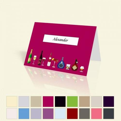 """Tischkarte """"Flaschen"""" in vielen Farben für alle Anlässe"""