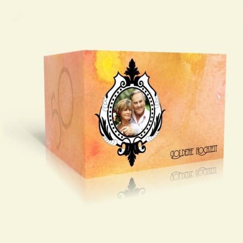 Einladungskarte Goldene Hochzeit - Aquarell