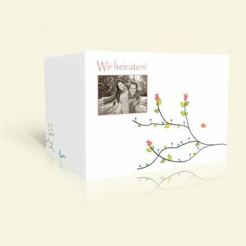 Hochzeitskarte Blütenast