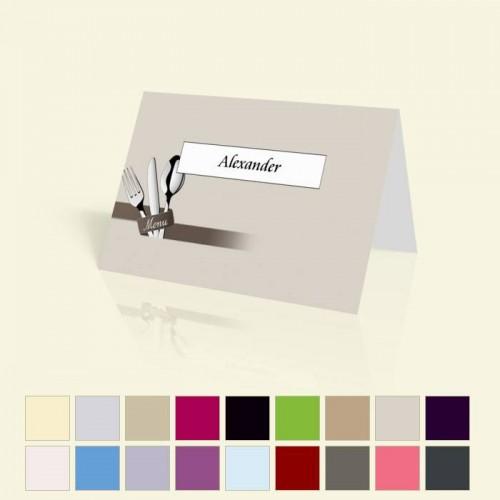 """Tischkarte """"Besteck"""" in vielen Farben für alle Anlässe"""