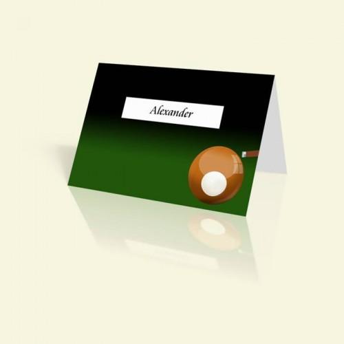 Tischkarte Billardkugel