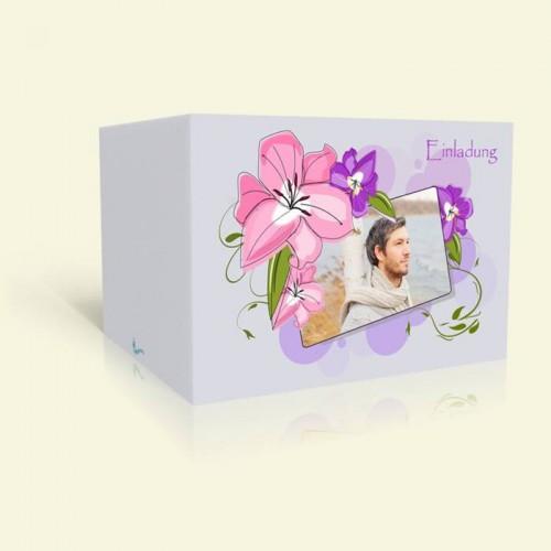 Geburtstagseinladung Zarte Pastellblüten