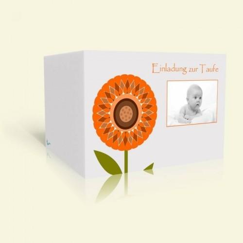 Taufkarte Sonnenblume