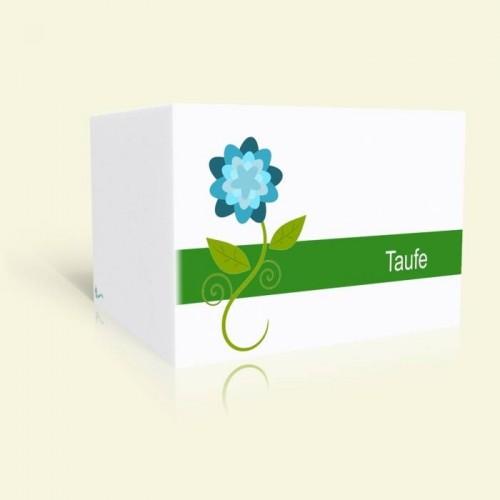 Einladungskarte zur Taufe - Blume