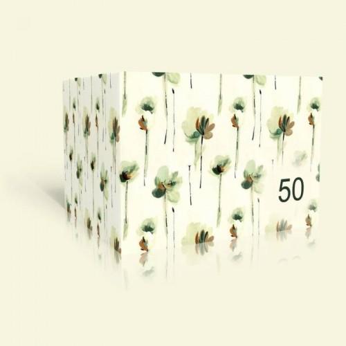 Einladung zum Geburtstag - Pastellblumen
