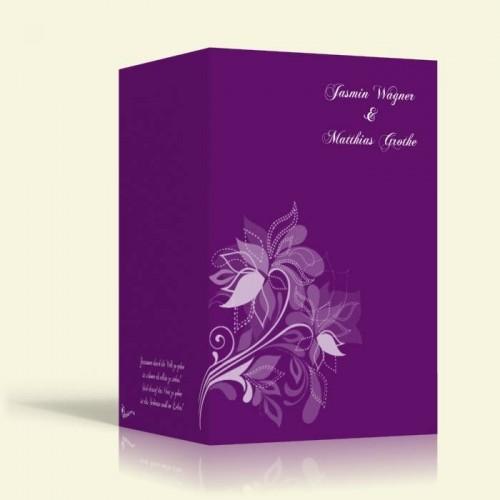 Hochzeitseinladungen  - Blumenmuster 1 - Hochformat