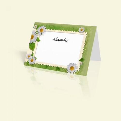 Tischkarte Briefmarke