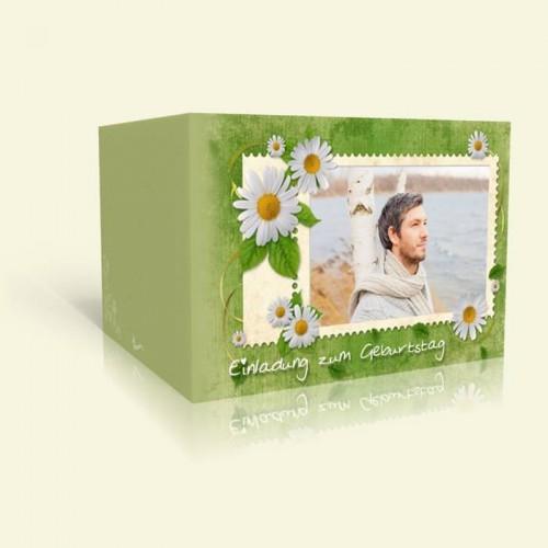 Geburtstagskarte Briefmarke