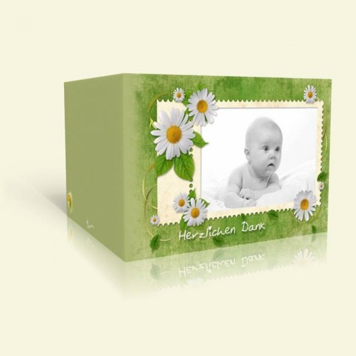 Dankeskarte Taufe Briefmarke