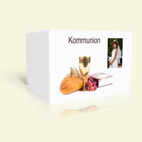 Danksagungskarte Erstkommunion Brot und Wein