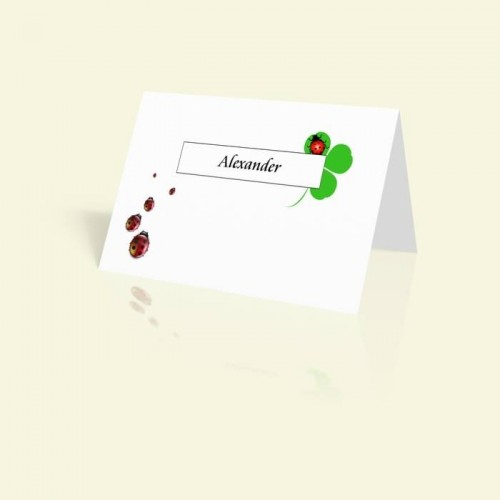 Tischkarte Glücksbringer
