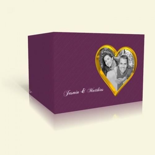 Hochzeitskarten  - Goldherz