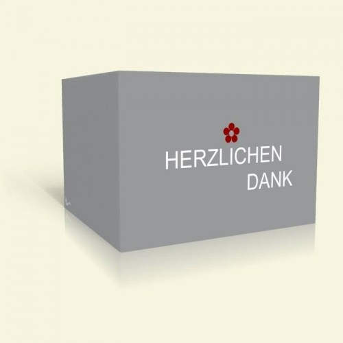 Danksagungskarte zur Kommunion - Simple Grey