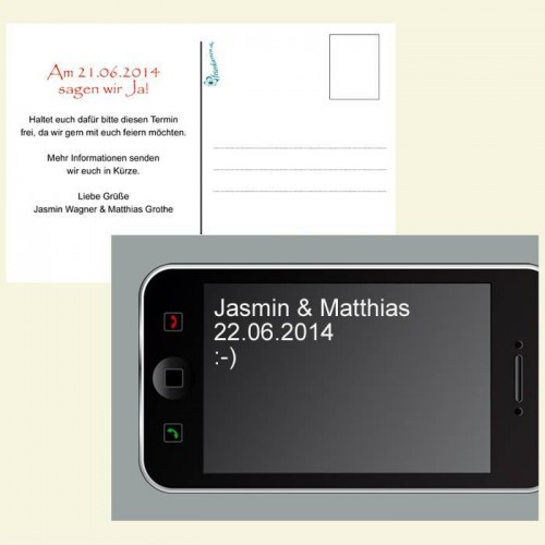 Save the Date Karte - Handy