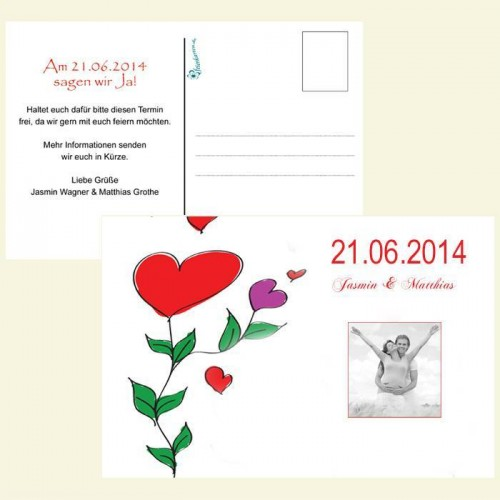 Save the Date Karte - Happy Flowers