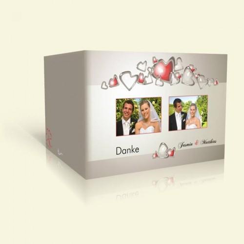 Danksagungskarte Hochzeit Tanzende Herzen