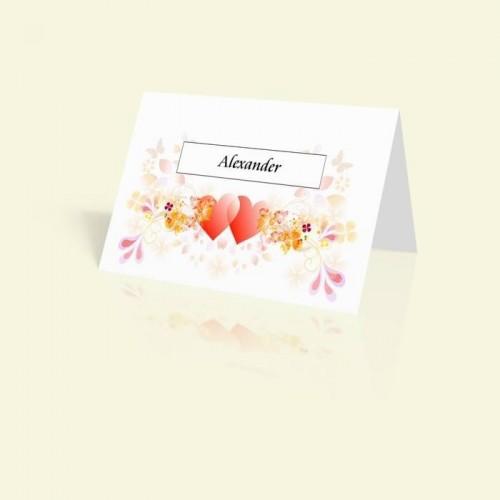 Tischkarte Herzen