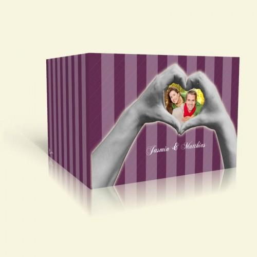 Hochzeitskarte Herzhände