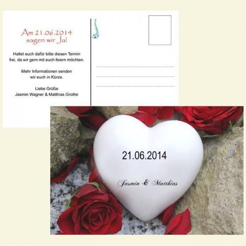 Save the Date Karte - Herzstein