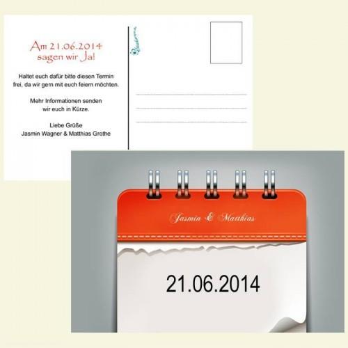 Save the Date Karte - Kalenderblätter