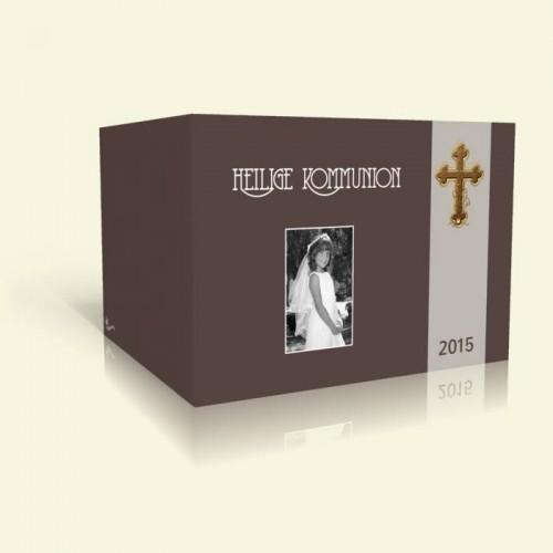 Einladung zur Kommunion - Holzkreuz