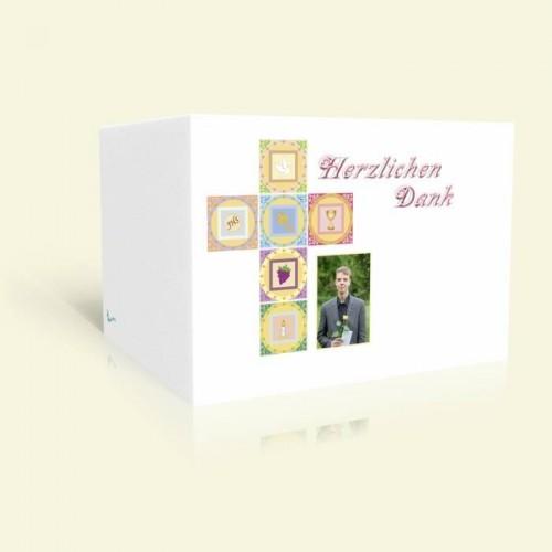 Danksagungskarte Konfirmation Symbolkreuz
