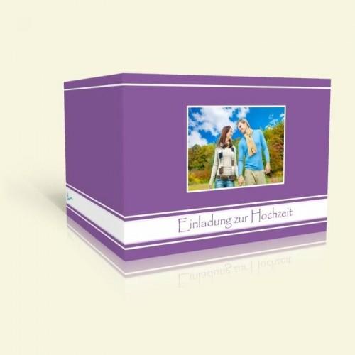 Einladungskarte zur Hochzeit - Lila