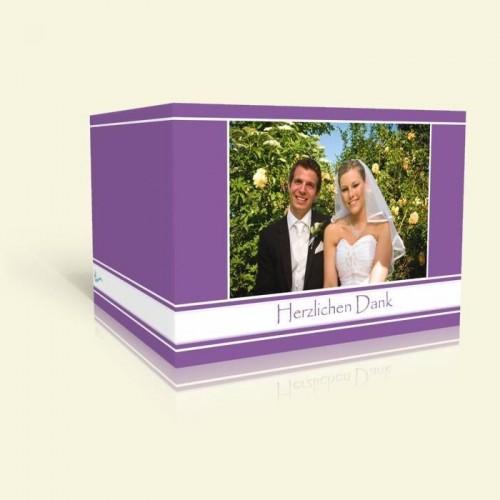 Danksagungskarte zur Hochzeit - Lila