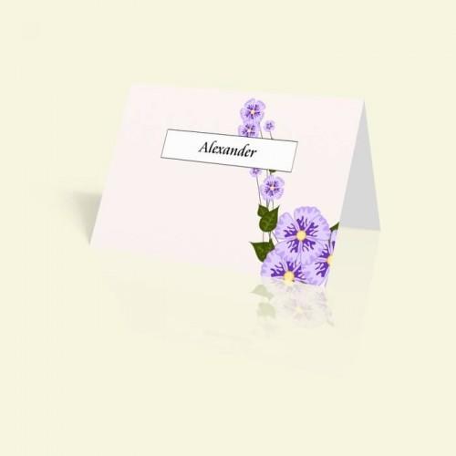 Tischkarte Märchenhafte Blumenranke