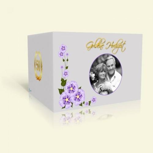 Einladung Goldene Hochzeit Märchenhafte Blumenranke