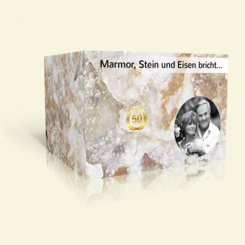 Einladung zur Goldene Hochzeit - Marmor, Stein und Eisen bricht...