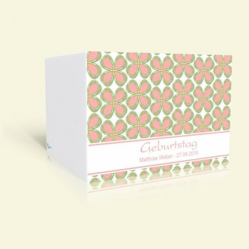 Einladungskarte Geburtstag Kleeblattmuster