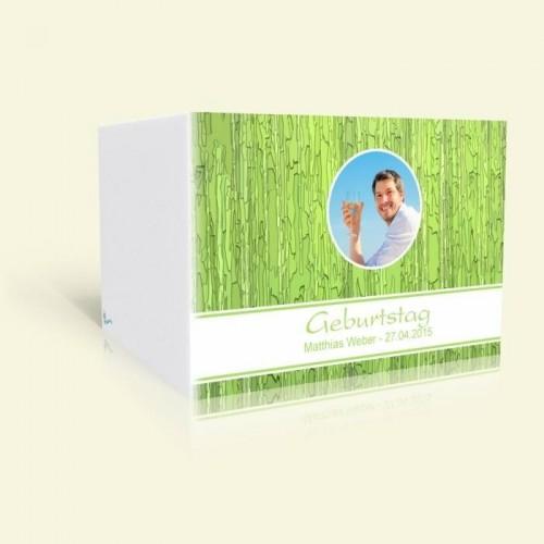 Einladungskarte zum Geburtstag - Grünes Muster