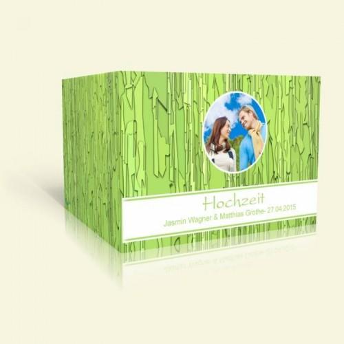 Hochzeitseinladung - Grünes Muster