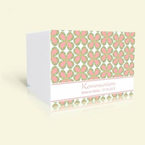 Einladungskarte Kommunion Kleeblattmuster