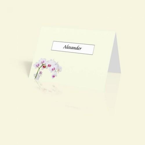 Tischkarte Orchidee
