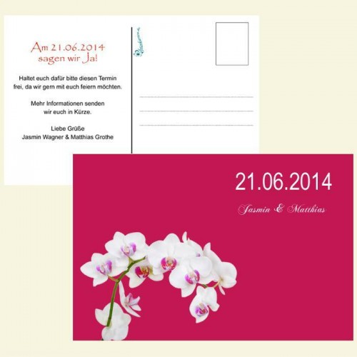 Save the Date Karte - Orchidee