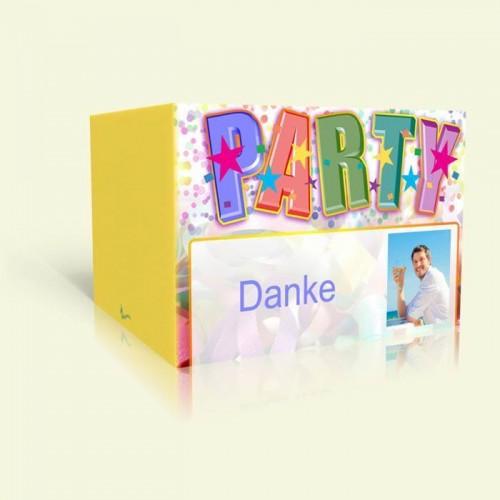 Dankeskarte Geburtstag Partysterne